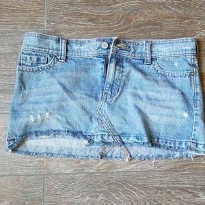 Hollister mini denim skirt size 7